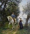 Johann Rudolf Koller Reiter und Bäurin an einem See.jpg