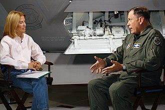 Greta Van Susteren - Van Susteren interviewing Chief of Staff of the United States Air Force John P. Jumper in 2004