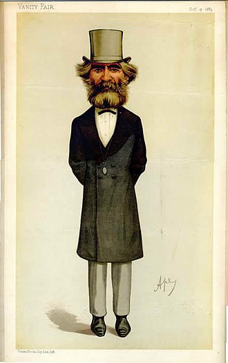 John Passmore Edwards - Passmore Edwards caricatured by Ape in Vanity Fair, 1885