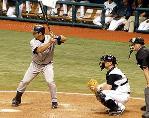 Jorge Posada at the plate, September 13, 2005....