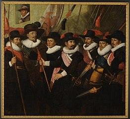 Officieren van het witte vendel van kapitein Johan van Banchem