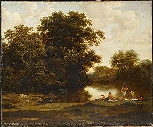 Joris van der Haagen-Landschap met baders