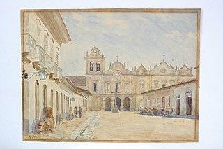 Páteo da Igreja de São Francisco, 1862