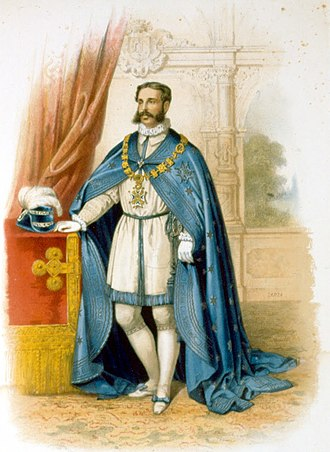 José Osorio, 9th Duke of Sesto - Osorio in robes of the Order of Charles III, 1864