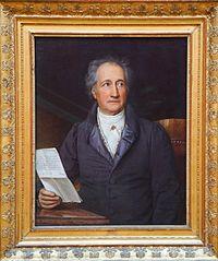 Johann Wolfgang von Goethe at age 79