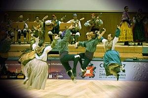 Jota (music) - Aragonese jota dancers