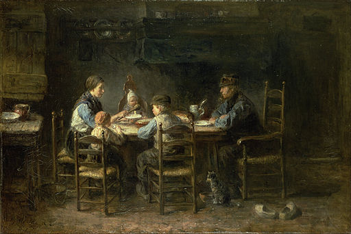 Jozef Israëls - Peasant family at the table - Google Art Project