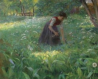 Julius Exter - Image: Julius Exter Im sommerlichen Laubwald