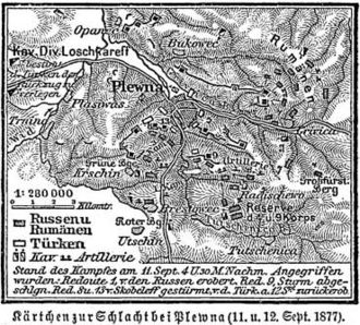 Romanian War of Independence - Map of the Siege of Plevna