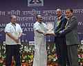 K.V. Thomas presenting the Rajiv Gandhi National Quality award in the category of Large Scale Manufacturing Industry to Nokia Siemens Networks.jpg