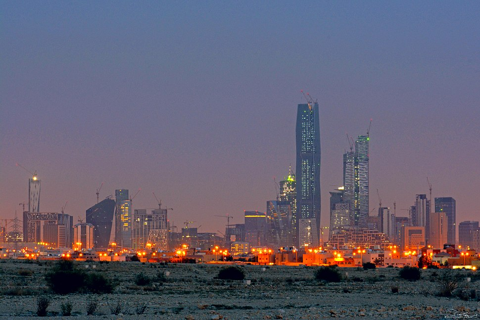 KAFD seen from North east side of Riyadh City