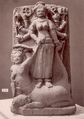 KITLV 87628 - Isidore van Kinsbergen - Sculpture of Durga comes from Bandung, moved to the Museum of the Batavian Society of Arts and Sciences in Batavia - Before 1900.tif