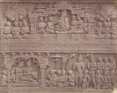 KITLV 90020 - Isidore van Kinsbergen - Reliefs on the Borobudur near Magelang - Around 1900.tif
