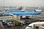 "KLM - Royal Dutch Airlines McDonnell Douglas MD-11 PH-KCF ""Annie Romein"" (21660958651).jpg"