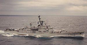 The Norwegian frigate KNM Stavanger (F303).