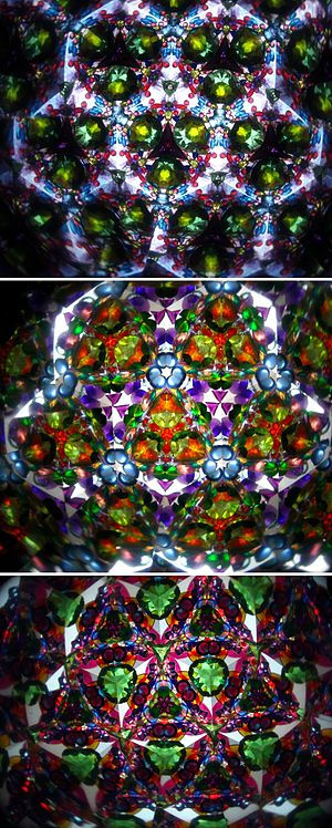 Kaleidoscope - Patterns when seen through a kaleidoscope tube