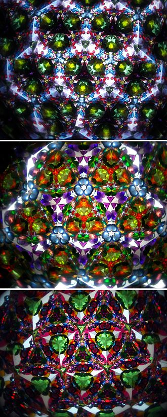 Kaleidoscope - Patterns when seen through a kaleidoscope tube