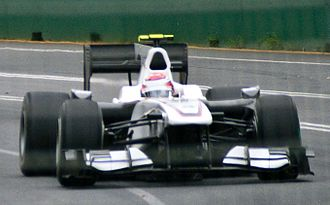 2010 Australian Grand Prix - Kamui Kobayashi who caused the first practice session to be twice stopped.