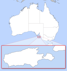 Kangaroo Island - Wikipedia on streaky bay australia map, auckland australia map, perth australia map, bass strait australia map, wineglass bay australia map, devil's marbles australia map, blackwood australia map, torres strait australia map, the great barrier reef australia map, lake eyre basin australia map, ningaloo coast australia map, dandenong ranges australia map, kuri bay australia map, merimbula australia map, byron bay australia map, hahndorf australia map, kapunda australia map, christchurch australia map, tennant creek australia map, australian alps australia map,