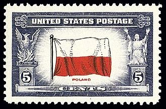 Jan Karski - US stamp from 1943, a tribute to Polish Underground State