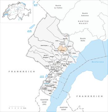 Karte Gemeinde Genolier 2007