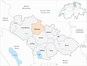 Map of Weisslingen