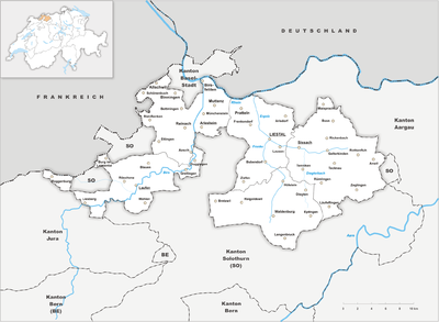 Map of Basel-Landschaft