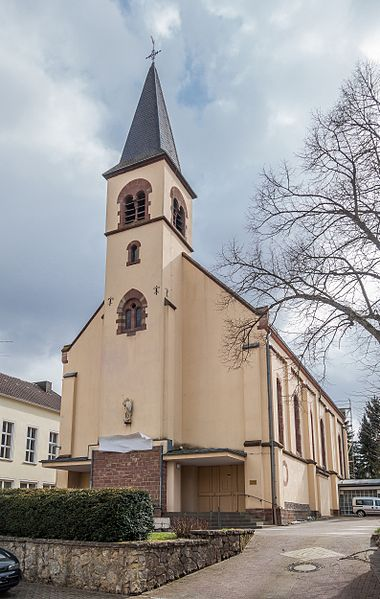 Die katholische Kirche St. Michael in Gersweiler, Saarbrücken.