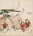 Katsushika Hokusai - Lost-love shell (Katashigai) - from the series 'A shell-matching game with Genroku thirty-six linked... - Google Art Project.jpg