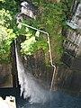 Kawamata Dam river maintenance discharge.jpg
