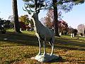 Kensico Elk Statue November 2011.JPG
