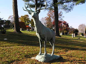Kensico Cemetery - The statue of an elk