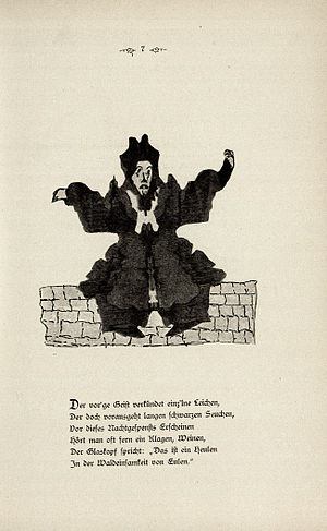 Klecksography - A page of poetry and art from Justinus Kerner's Klecksographien (1890)