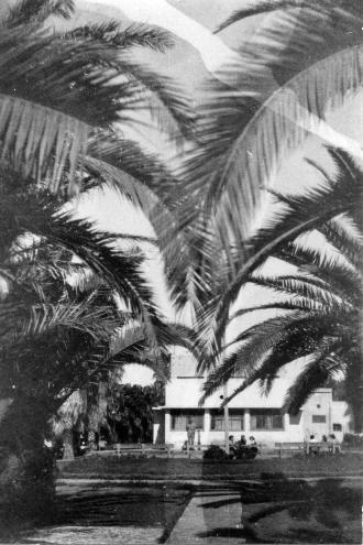 Gvat - The kibbutz dining room in 1946