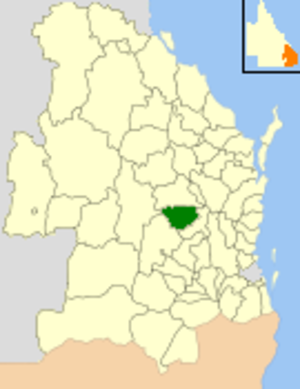 Shire of Kingaroy - Location within Queensland