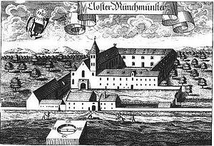 Münchsmünster - Image: Kloster Muenchsmuenster 1701 Michael Wenig