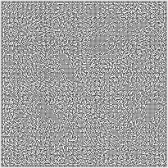 Knight's tour - A very large (130x130) square open Knight's Tour created using Warnsdorf's Rule.
