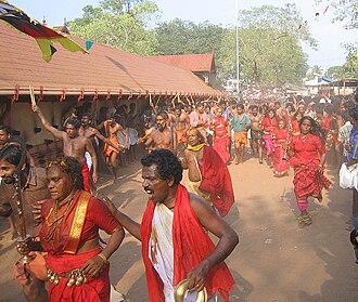Kodungallur - A scene from Kodungallur Bharani festival in Kodungallur Bhagavathy Temple