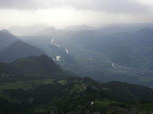 View of Kramsach from the Vorderen Sonnwendjoch