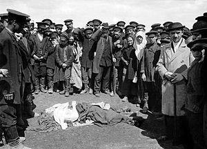 Khodynka Tragedy - A victim of the stampede
