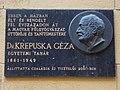 Krepuska Géza domborműves emléktábla (2001), 2018 Józsefváros.jpg
