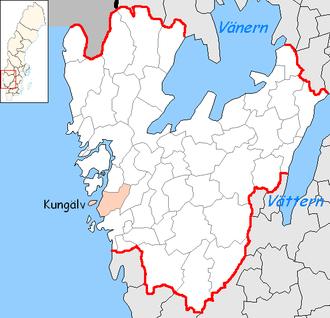 Kungälv Municipality - Image: Kungälv Municipality in Västra Götaland County