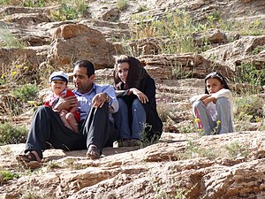 Kurdish population - Kurdish family in Iran