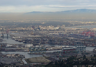 Port of Los Angeles - View of Port of Los Angeles , Long Beach and Orange county from Palos Verdes