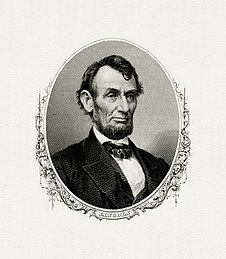 Bureau of Engraving and Printing retrato de Lincoln como presidente