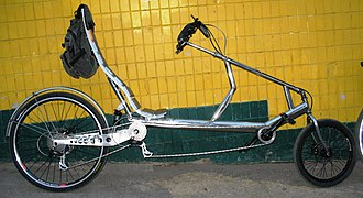 Recumbent bicycle - Long-wheel-base low-rider recumbent with steering u-joint (UA)