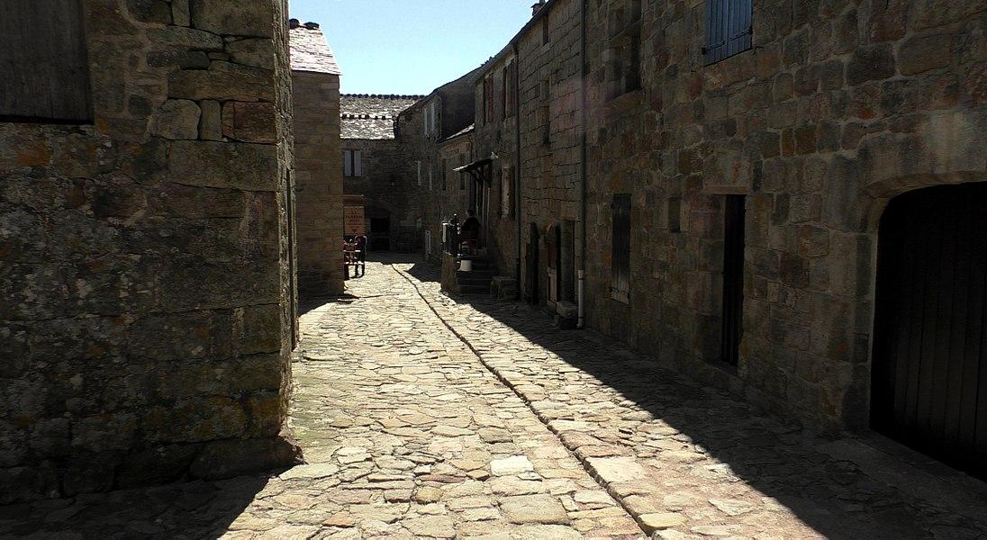 A street of La Garde-Guérin in Lozère (France)