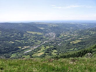 La Bourboule - View from Puy Gros.