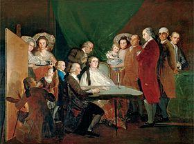 La familia del infante don Luis de Borbón, 1784.