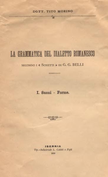 File:La grammatica del dialetto romanesco (1899).djvu